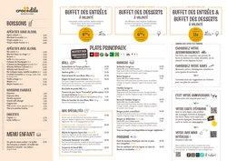 Promos de Restaurants dans le prospectus à Crocodile ( Plus d'un mois)
