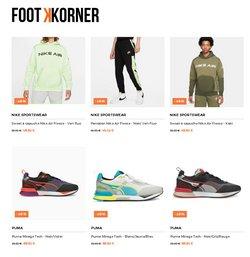 Promos de Nike dans le prospectus à Footkorner ( Publié hier)