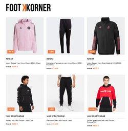 Promos de Adidas dans le prospectus à Footkorner ( Publié hier)