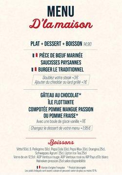 Promos de Restaurants dans le prospectus à Courtepaille ( Plus d'un mois)