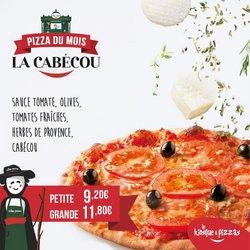 Promos de Restaurants dans le prospectus à Le Kiosque A Pizza ( Expire ce jour)