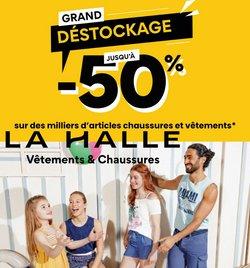 Promos de Vêtements et Chaussures dans le prospectus à La Halle ( Expire demain)