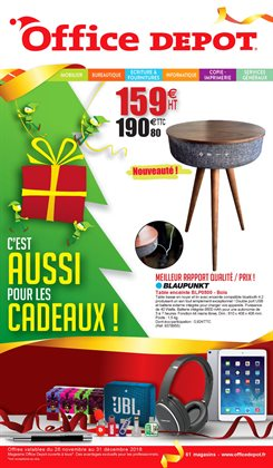 Promos de Table basse dans le prospectus de Office Depot à Paris