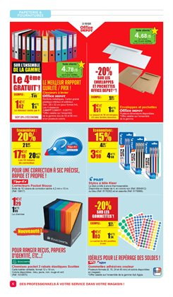 Promos de Black Friday dans le prospectus de Office Depot à Paris