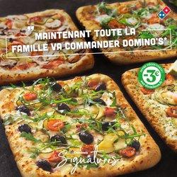 Promos de Restaurants dans le prospectus à Domino's Pizza ( Publié hier)