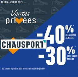 Promos de Sport dans le prospectus à Chausport ( Publié hier)