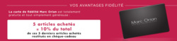 Promos de Marc Orian dans le prospectus à Paris