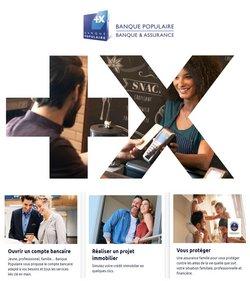 Promos de Banques et Assurances dans le prospectus à Banque Populaire ( Publié hier)
