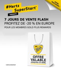 Promos de Hertz dans le prospectus à Paris