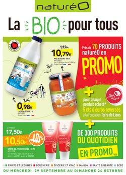 Promos de Magasins Bio dans le prospectus à NaturéO ( Expire demain)