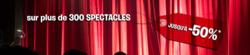 Promos de Culture et Loisirs dans le prospectus de Carrefour Spectacles à Marseille