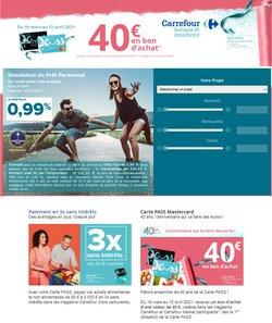 Carrefour Banque coupon ( Plus d'un mois )