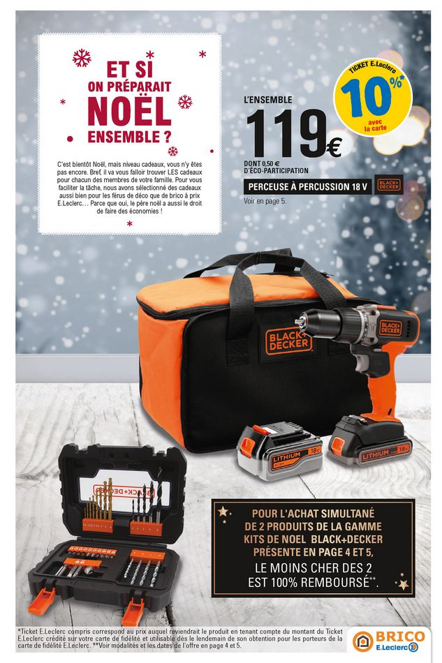 Eleclerc Brico à Carvin Catalogue Et Codes Promo Nöel
