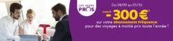 Promos de SNCF dans le prospectus à Paris