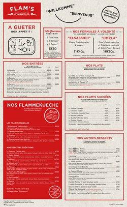Promos de Restaurants dans le prospectus de Flam's à Lyon ( 2 jours de plus )