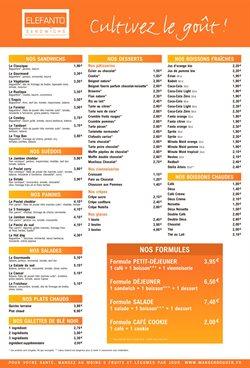 Promos de Restaurants dans le prospectus de Elefanto à Montreuil (Seine Saint Denis) ( Plus d'un mois )