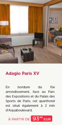 Promos de Adagio dans le prospectus à Paris