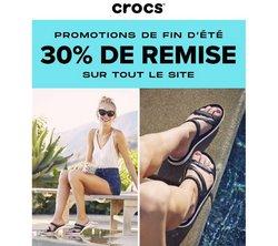 Promos de Crocs dans le prospectus à Crocs ( 5 jours de plus)
