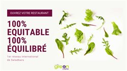 Promos de Restaurants dans le prospectus de Green is better à Lyon ( Plus d'un mois )