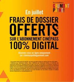 Promos de Culture et Loisirs dans le prospectus à Cinémas Gaumont Pathé ( Expire ce jour)