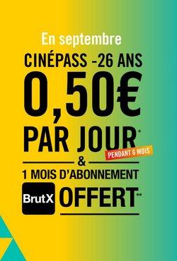 Promos de Culture et Loisirs dans le prospectus à Cinémas Gaumont Pathé ( Expire demain)