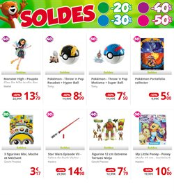 Promos de Monster High dans le prospectus de Maxi Toys à Paris