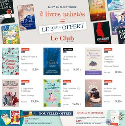 Promos de Librairies dans le prospectus à France Loisirs ( 5 jours de plus)