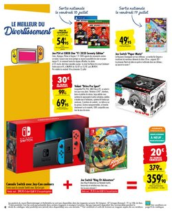 Nintendo Switch à Carrefour