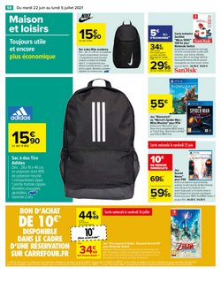Promos de Adidas dans le prospectus à Carrefour ( 14 jours de plus)