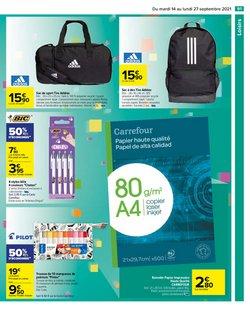 Promos de Adidas dans le prospectus à Carrefour ( 2 jours de plus)