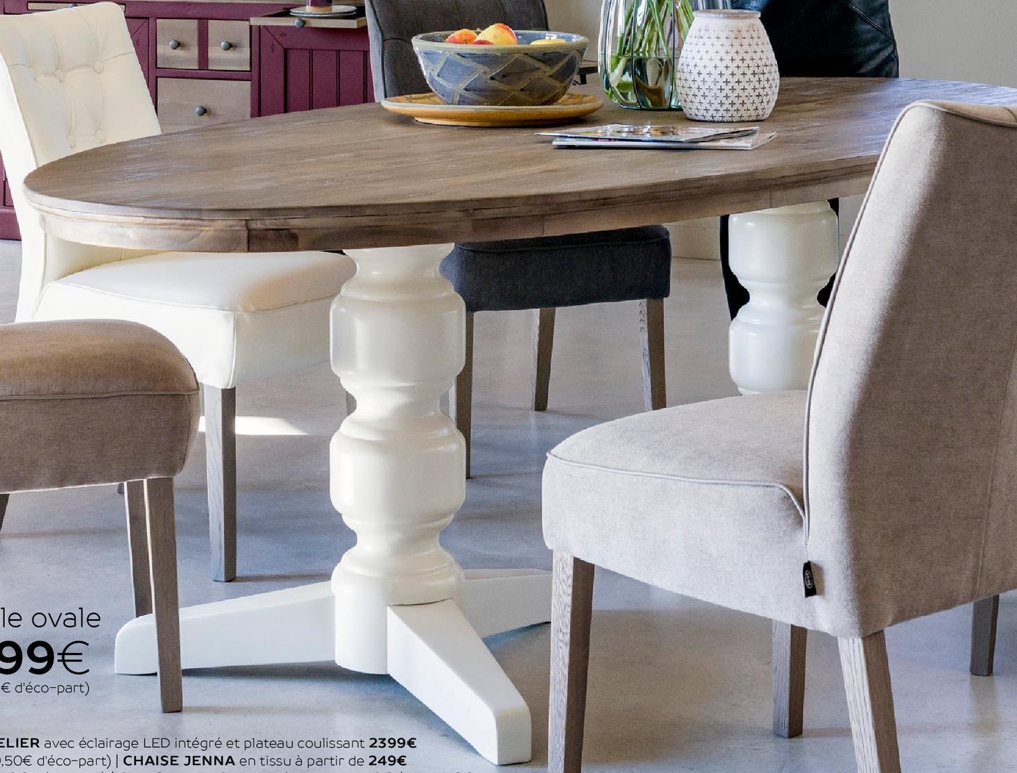 Magasin De Tissus Salon De Provence table ovale