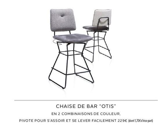 Chaise de bar offre à 229€