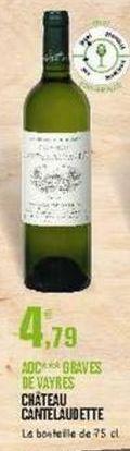 Vin blanc E.Leclerc offre à 4.79€