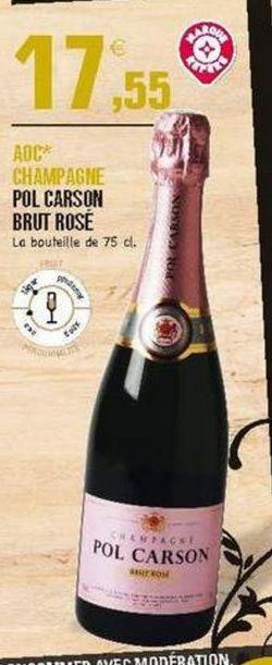 Champagne rosé E.Leclerc offre à 17.55€