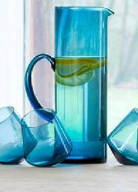 Ensemble Caraf & 4 Glasses - Bleu offre à 39€