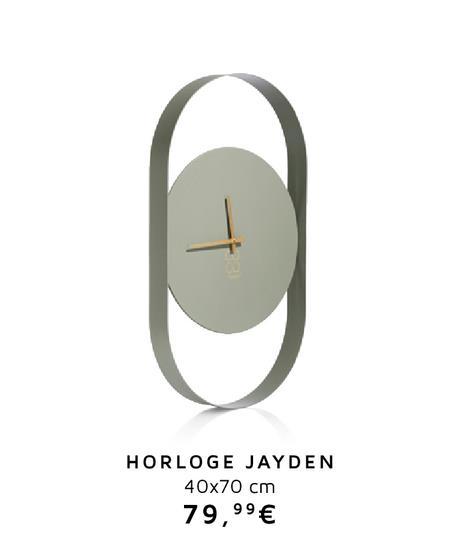 Pendule Jayden - 70 X 40 Cm offre à 79.99€