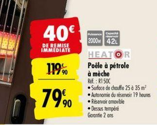 Poêle à Pétrole Carrefour