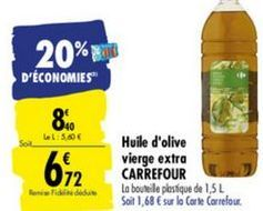 Huile Dolive Extra Vierge Carrefour