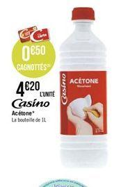 Casino acétone offre à