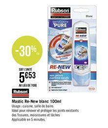 Mastic re-new blanc 100ml offre à