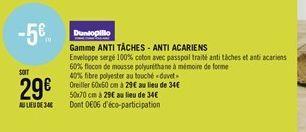 Gamme anti täches - anti acariens offre à