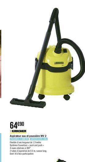 Aspirateur eau et poussiére MV 2 offre à
