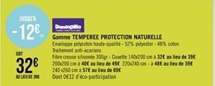 Gamme Temperee protection naturelle offre à