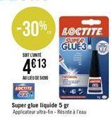 Super glue liquide 5gr Loctite offre à