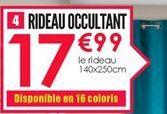 Rideau occultant offre à 17.99€
