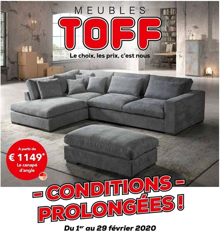 Canapé d'angle offre à 1149€