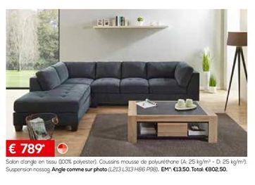 Canapé d'angle offre à 789€