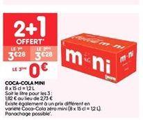Coca-cola mini offre à 2.19€