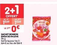 Sachet bonbon emoji so in love offre à 1.13€