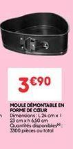 Moule demontable en forme de coeur offre à 3.9€